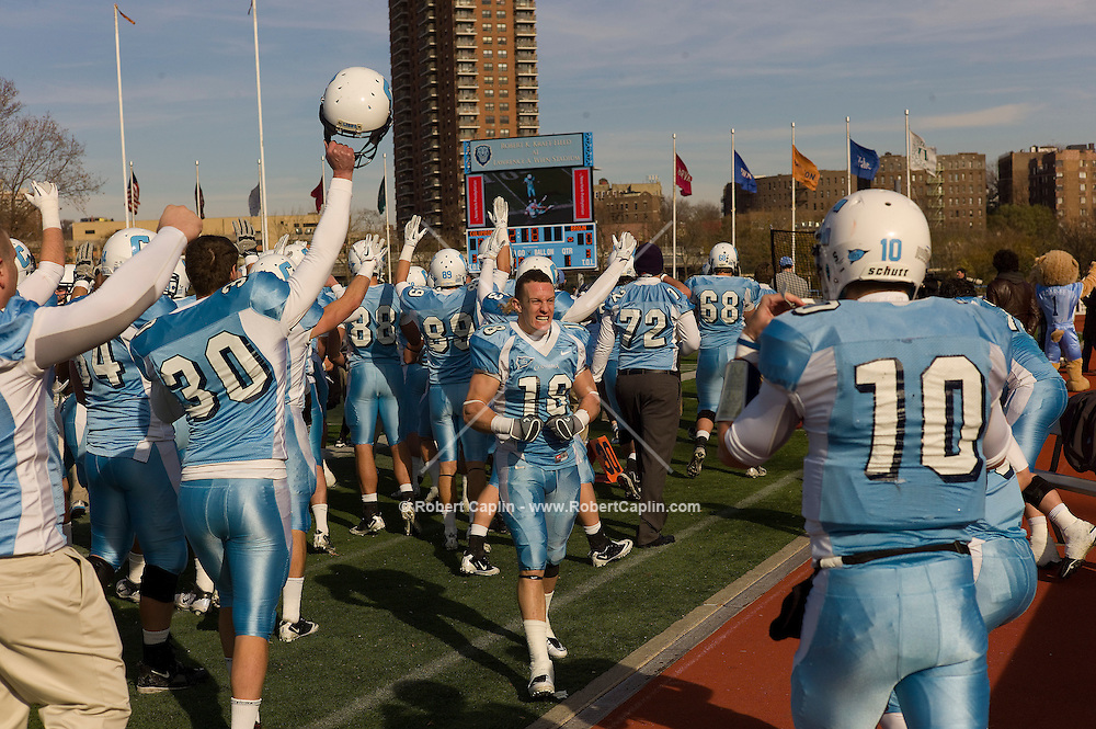 The Columbia University Football team plays Brown in their last game of the season. Columbia defeated Brown giving them their only win in a 1-9 season. ..Photo by Robert Caplin.