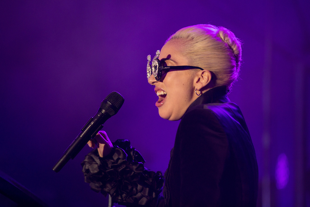 Lady Gaga performs during the Airbnb Open Spotlight at The Oasis Lot on Saturday, Nov. 19, 2016, in Los Angeles. (Photo by Willy Sanjuan/Invision/AP)