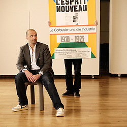 Design director Fabien Naudan, at the occasion of a Swiss design furniture's sale at the Artcurial Gallery. Paris, France. 4/24/2009. Photo: Antoine Doyen