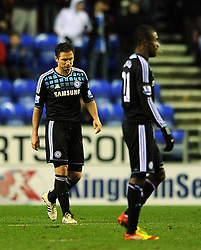 17.12.2011, Stamford Bridge Stadion, London, ENG, PL, FC Chelsea vs Wigan Athletic, 16. Spieltag, im Bild Chelsea's Frank Lampard looks dejected during the football match of English premier league, 16th round, between FC Chelsea and Wigan Athletic at Stamford Bridge Stadium, London, United Kingdom on 2011/12/17. EXPA Pictures © 2011, PhotoCredit: EXPA/ Propagandaphoto/ Chris Brunskill..***** ATTENTION - OUT OF ENG, GBR, UK *****
