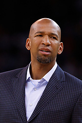 Mar 28, 2012; Oakland, CA, USA; New Orleans Hornets head coach Monty Williams on the sidelines against the Golden State Warriors during the first quarter at Oracle Arena. New Orleans defeated Golden State 102-87. Mandatory Credit: Jason O. Watson-US PRESSWIRE