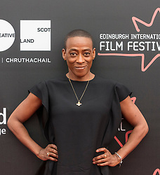 Photo-opportunity for The Dark Mile directed by Gary Love at the Edinburgh International Film Festival<br /> <br /> Pictured: Marcia Rose