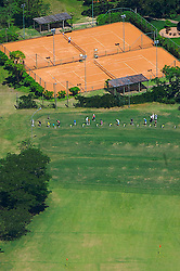 Vista aéra do campo de jogo do XIII Aberto do Belém Novo Golf Club.  FOTO: Jefferson Bernardes/Preview.com