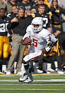 October 22, 2011: Indiana Hoosiers quarterback Tre Roberson (5) runs with the ball during the first half of the NCAA football game between the Indiana Hoosiers and the Iowa Hawkeyes at Kinnick Stadium in Iowa City, Iowa on Saturday, October 22, 2011. Iowa defeated Indiana 45-24.