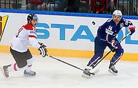 Stephane da costa - 05.05.2015 - Autriche / France  - Championnats du Monde de Hockey sur Glace 2015 -Prague<br />Photo : Xavier Laine / Icon Sport