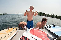 Morin's and DiGangi's on Lake Winnipesaukee August 17, 2012.