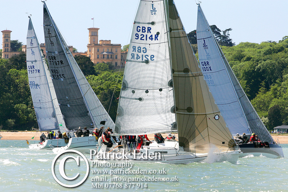 Sailing, Yachting, Cowes Week, Osborne House, Bay, GBR 9214R, GBR 100X, GNR 7797R, GBR 7977R, 2013, Round the Island Race, Jet, Jammin, Jepardy Sailing, Yachting, Prints, by, Patrick Eden, photography photograph canvas canvases