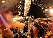 A traditional dancer performs in the Day of the Dead celebrations in Los Angeles on Monday, Nov. 1, 2016.(Photo by Ringo Chiu/PHOTOFORMULA.com)<br /> <br /> Usage Notes: This content is intended for editorial use only. For other uses, additional clearances may be required.