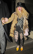 24.FEBUARY.2010 - LONDON<br /> <br /> COURTNEY LOVE LEAVING HOME HOUSE, MAYFAIR LOOKING A LITTLE WORSE FOR WEAR.<br /> <br /> BYLINE: EDBIMAGEARCHIVE.COM<br /> <br /> *THIS IMAGE IS STRICTLY FOR UK NEWSPAPERS & MAGAZINES ONLY*<br /> *FOR WORLD WIDE SALES AND WEB USE PLEASE CONTACT EDBIMAGEARCHIVE - 0208 954 5968*