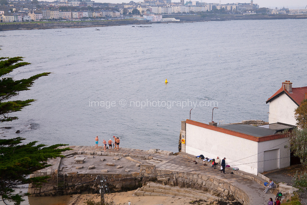 View of Sandycove bathing area in Dublin Ireland
