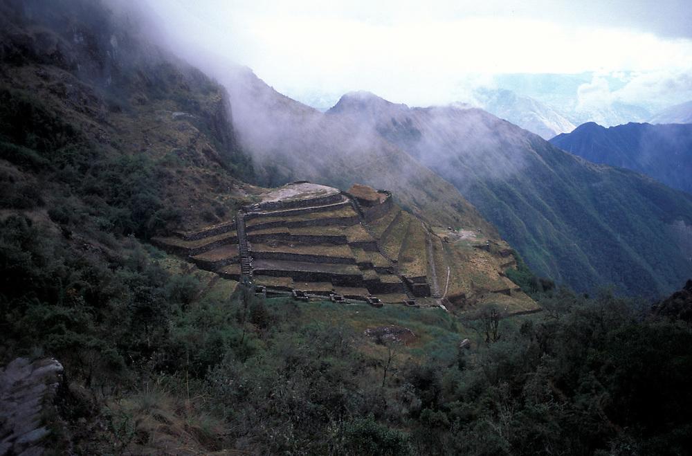 Incan ruins of Sayacmarca, along the Inca Trail