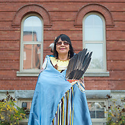 Vivian Timmins, a Mushkegowuk Cree of the Constance Lake First Nations, was one of nine grandmothers to graduate this year with a Masters of Social Work from Laurier's indigenous field of study program. Timmins works in Toronto helping residential school survivors. <br /> <br /> IAN STEWART / SPECIAL TO THE RECORD