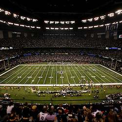 November 21, 2010; New Orleans, LA, USA; A general view from the stands during a game between the New Orleans Saints and the Seattle Seahawks at the Louisiana Superdome. Mandatory Credit: Derick E. Hingle