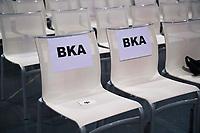DEU, Deutschland, Germany, Berlin, 02.06.2018: Reservierte Sitzplätze für das Bundeskriminalamt (BKA) beim Landesparteitag der Berliner SPD im Hotel Andels.