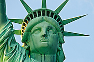 Staue of Liberty at sunset frontal view