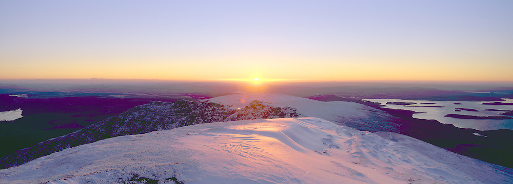Winter Sunrise from Ben Lomond