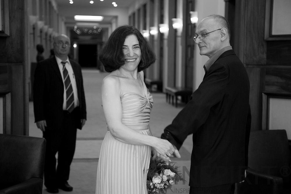 Wedding at the Woluwe Saint Pierre Town Hall in Brussels 12 September 2011. Photo Erik Luntang / INSPIRIT Photo.