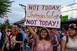 June 24, 2017 - Philippines - Thousands marched through Marikina city Saturday afternoon to commemorate the annual Gay Pride March. On its 23rd year, the Philippines has the oldest pride march in Asia. (Credit Image: © J Gerard Seguia via ZUMA Wire)
