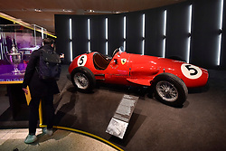 "© Licensed to London News Pictures. 14/11/2017. London, UK.  A Ferrari 500, 1952.  Preview of ""Ferrari: Under the Skin"", an exhibition at the Design Museum to mark the 70th anniversary of Ferrari.  Over GBP140m worth of Ferraris are on display from private collections including Michael Schumacher's 2000 F1 winning car.  The exhibition runs 15 November to 15 April 2018.  Photo credit: Stephen Chung/LNP"