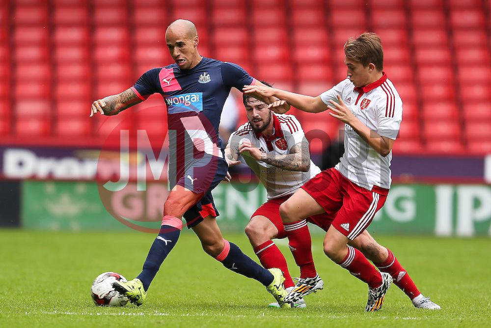Gabriel Obertan of Newcastle United in action - Mandatory by-line: Matt McNulty/JMP - 26/07/2015 - SPORT - FOOTBALL - Sheffield,England - Bramall Lane - Sheffield United v Newcastle United - Pre-Season Friendly