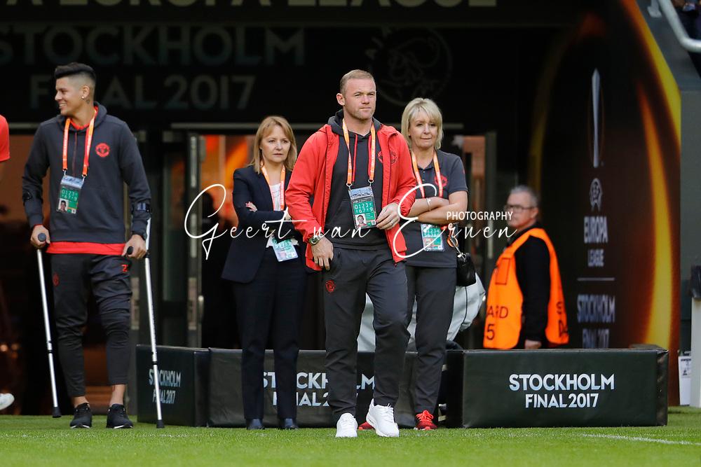 23-05-2017 VOETBAL:FINALE EUROPA LEAGUE:STOCKHOLM<br /> <br /> Ajax traint in het stadion dag voor de wedstrijd. Manchester United proefde alleen aan het veld vanwege de aanslag in Manchester. Wayne Rooney van Manchester United <br /> <br /> Foto: Geert van Erven