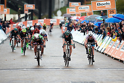 Sprinting for minor placings at Boels Ladies Tour 2019 - Stage 4, a 135.6 km road race from Arnhem to Nijmegen, Netherlands on September 7, 2019. Photo by Sean Robinson/velofocus.com