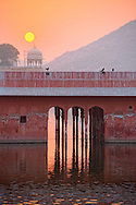 Building at Jal Mahal by sunrise