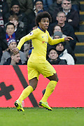 Chelsea midfielder Willian (22) during the Premier League match between Crystal Palace and Chelsea at Selhurst Park, London, England on 30 December 2018.