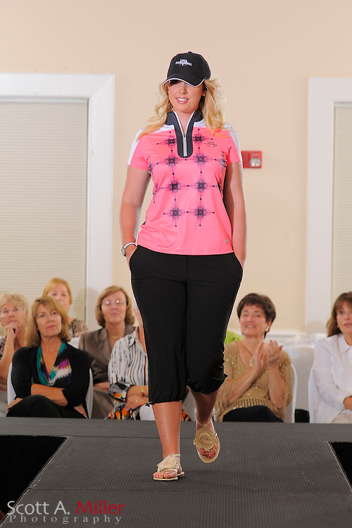 Fashion show featuring Symetra Tour players prior to the Daytona Beach Invitational  at LPGA International on Sept. 24, 2012 in Daytona Beach, Florida...(Scott A. Miller /AP Images for NCOA)
