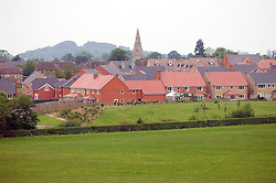 New modern housing development on the edge of a village, Billesdon, Leicestershire, England, UK.