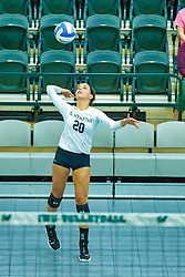 BLOOMINGTON, IL - August 24:  Makenna Jacoby during  the IWU Titans Women<br /> s Volleyball Green-White scrimmage on August 24 2019 at Shirk Center in Bloomington, IL. (Photo by Alan Look)