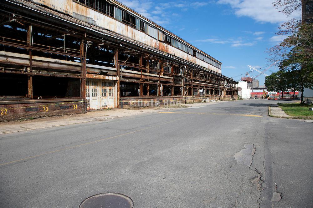 old abandoned industrial building Navy Yard Brooklyn NY