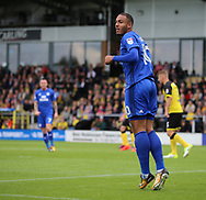 Kenneth Zohore of Cardiff City during the Sky Bet Championship match at the Pirelli Stadium, Burton upon Trent<br /> Picture by Mike Griffiths/Focus Images Ltd +44 7766 223933<br /> 05/08/2017