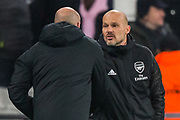 Congratulations to Freddie Ljungberg, Head Coach of Arsenal FC following a 1-3 win in the Premier League match between West Ham United and Arsenal at the London Stadium, London, England on 9 December 2019.