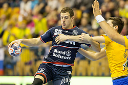 Kentin Mahe of SG Flensburg-Handewitt during handball match between RK Celje Pivovarna Lasko and SG Flensburg Handewitt in VELUX EHF Champions League, on November 26, 2017 in Dvorana Zlatorog, Celje Slovenia. Photo by Ziga Zupan / Sportida