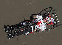 LONDON UK 29TH JULY 2016:  Jonathan Waters (GBR). Prudential RideLondon Handcycle Grand Prix at the London Velo Park. Prudential RideLondon in London 29th July 2016<br /> <br /> Photo: Bob Martin/Silverhub for Prudential RideLondon<br /> <br /> Prudential RideLondon is the world&rsquo;s greatest festival of cycling, involving 95,000+ cyclists &ndash; from Olympic champions to a free family fun ride - riding in events over closed roads in London and Surrey over the weekend of 29th to 31st July 2016. <br /> <br /> See www.PrudentialRideLondon.co.uk for more.<br /> <br /> For further information: media@londonmarathonevents.co.uk