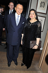 His Highness TENGKU ABDULLAH SULTAN ABU BAKAR and Her Highness DATIN SERI DATO HABIBAH attend the MARC Restaurants Truffle Dinner hosted by Marlon & Nadya Abela at Cassis, 232-236 Brompton Road, London on 13th February 2013.