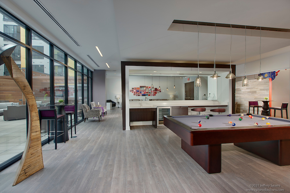 Architectural Interior of The Fenwick Apartmets in Silver Spring MD by Jeffrey Sauers of Commercial Photographics, Architectural Photo Artistry in Washington DC, Virginia to Florida and PA to New England