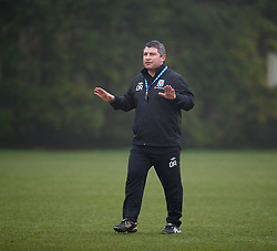 CARDIFF, WALES - Thursday, March 15, 2012: Welsh Football trust Technical Director Osian Roberts during a training session at the Glamorgan Sports Park. (Pic by David Rawcliffe/Propaganda)
