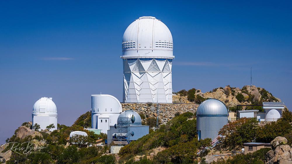 Telescopes at Kit Peak National Observatory, Tohono O'odham Indian Reservation, Arizona USA