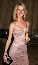 MISS AYESHA MAKIM neice of Sarah, Duchess of York at a dinner hosed by Moet & Chandon at their headquarters at 13 Grosvenor Crescent, London on 12th October 2005.<br /><br />NON EXCLUSIVE - WORLD RIGHTS