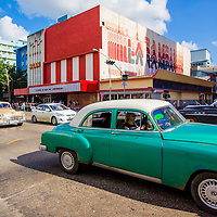 Vintage cars make their way through Havana as MLB players make a goodwill trip to Havana, Cuba. (Photo by Chip Litherland/The Players' Tribune)
