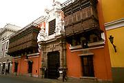 PERU, LIMA, COLONIAL Palacio Torre Tagle mansion