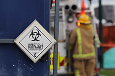 Tauranga-Fire crew cleans up after portaloo spill