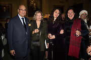 Desmond de Silva; hon Alexandra Foley; Victoria de Silva; Her Royal Highness Katarina The Princess of Yugoslavia and Serbia Launch hosted by Quartet books  of Madam, Where Are Your Mangoes? by Sir Desmond de Silva at The Carlton Club. London. 27 September 2017.