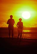 Jogging at sunset<br />