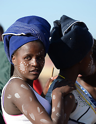 Nov. 21, 2014 - Mthatha, Eastern Cape, South Africa - Young woman dresses in the traditional costume in Mandela's homeland of Mthatha, Eastern Cape, South Africa. (Picture by: Artur Widak/NurPhoto) (Credit Image: © Artur Widak/NurPhoto/ZUMA Wire)
