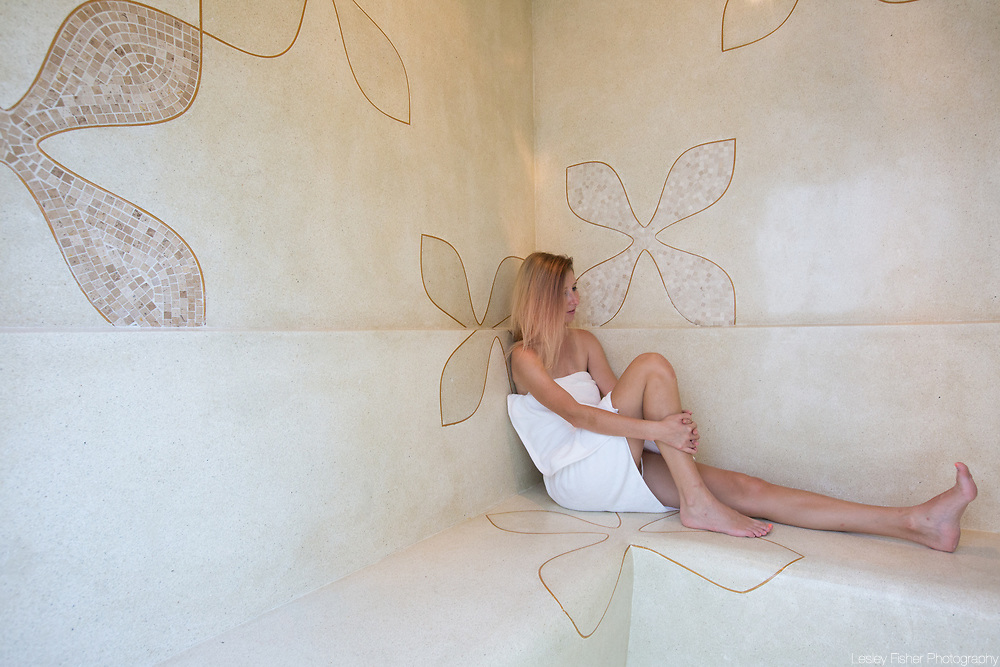 Steam room at Chi Residence, luxury and private apartments for rent located in Bang Rak, Koh Samui, Thailand