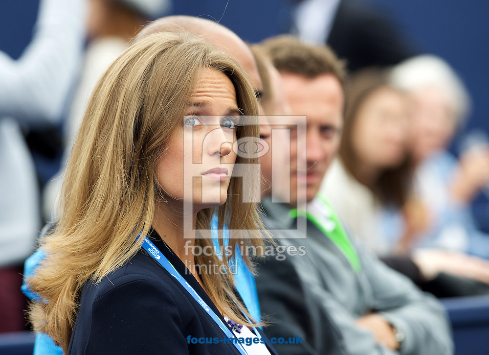 Wife Kim while watching Andy Murray of Great Britain during his semi-final final match against Viktor Troicki of Serbia in Aegon Championships at the Queen's Club, West Kensington<br /> Picture by Alan Stanford/Focus Images Ltd +44 7915 056117<br /> 20/06/2015