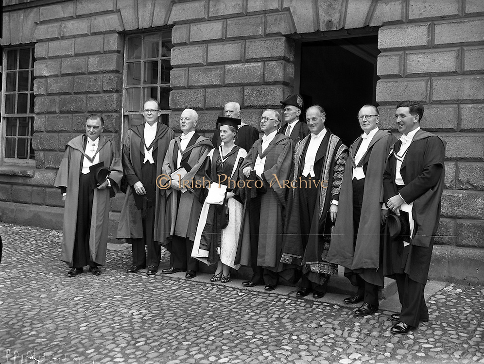 Degrees at TCD - Ninette deValois (director of the Sadler's Wells Ballet School) receives Honorary Degree..04/07/1957